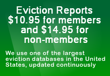 Eviction Reports $5.95, We use one of the largest eviction databases in the United States, updated continuously